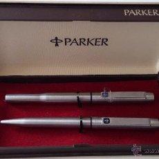 Estilográficas antiguas, bolígrafos y plumas: ROLLER Y BOLIGRAFO PARKER 25 FIBRE TIP (NUEVOS). Lote 54368454