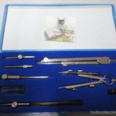 Estilográficas antiguas, bolígrafos y plumas: CONJUNTO COMPAS Y ACCESORIOS MARCA SAMER. Lote 55785563