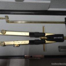 Estilográficas antiguas, bolígrafos y plumas: CONJUNTO COMPAS Y ACCESORIOS MARCA ORIGINAL LORENZ. Lote 55785652