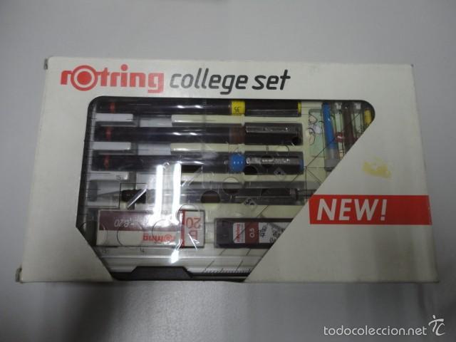 Estilográficas antiguas, bolígrafos y plumas: conjunto rotring college set 0,35 - 0,50 - 0,70 - Foto 2 - 55785702
