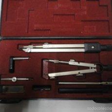 Estilográficas antiguas, bolígrafos y plumas: CONJUNTO COMPAS Y ACCESORIOS MARCA MAPED. Lote 55818503