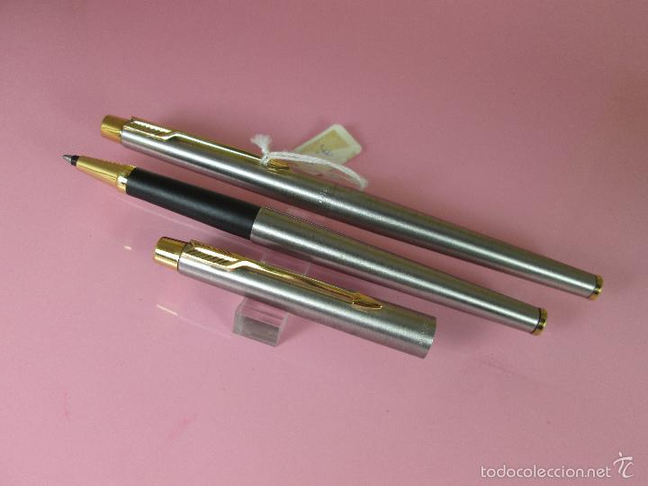 Estilográficas antiguas, bolígrafos y plumas: 9395/JUEGO PLUMA+ROLLER-PARKER CLASSIC GT-FLIGTHER-CAJA - Foto 5 - 37395215