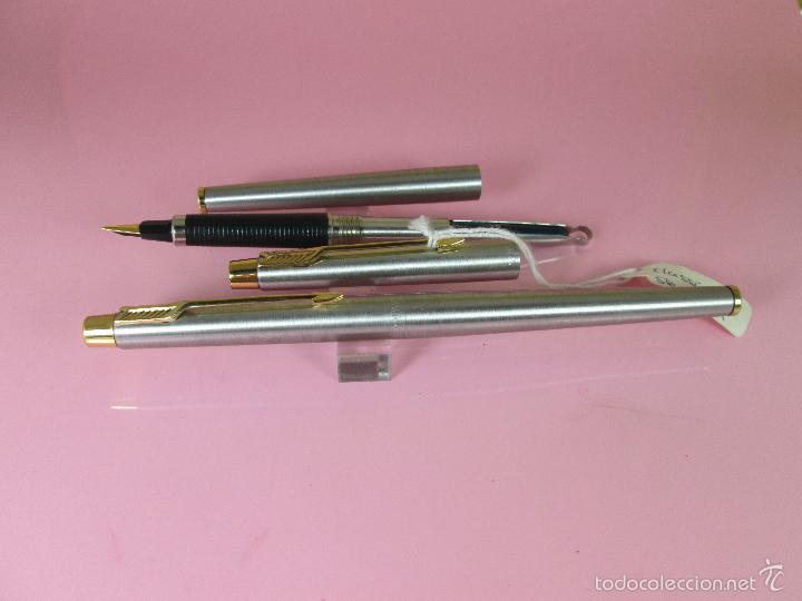 Estilográficas antiguas, bolígrafos y plumas: 9395/JUEGO PLUMA+ROLLER-PARKER CLASSIC GT-FLIGTHER-CAJA - Foto 9 - 37395215