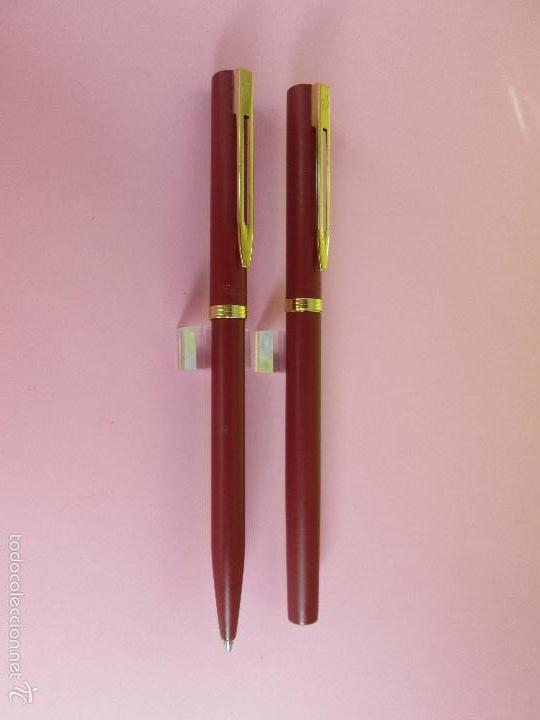 Estilográficas antiguas, bolígrafos y plumas: AZ-ANTIGUO JUEGO-PLUMA+BOLIGRAFO-FRANCE-WATERMAN VERMEILL MATE-NOS-CAJA-NUEVO-(985) - Foto 6 - 37447328