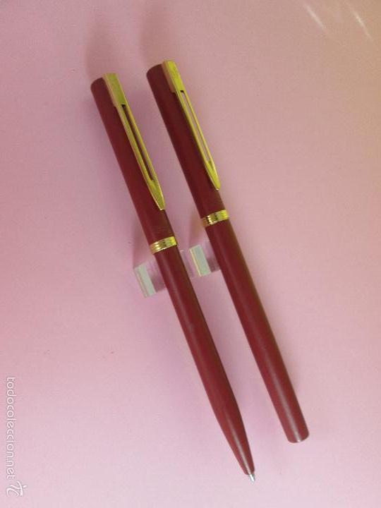 Estilográficas antiguas, bolígrafos y plumas: AZ-ANTIGUO JUEGO-PLUMA+BOLIGRAFO-FRANCE-WATERMAN VERMEILL MATE-NOS-CAJA-NUEVO-(985) - Foto 9 - 37447328