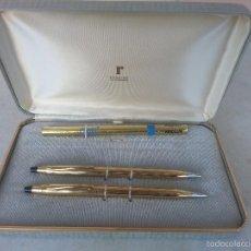 Estilográficas antiguas, bolígrafos y plumas: ESTUCHE CON BOLIGRAFO Y PORTAMINAS CROSS. MADE IN USA CON PUBLICIDAD DE I.B.M.. Lote 95813775