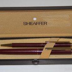 Estilográficas antiguas, bolígrafos y plumas: EST319 CONJUNTO SHEAFFER. PLUMÍN SHEAFFER F-4. METAL DORADO Y LACADO. USA. AÑOS 80. Lote 57341504
