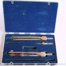 Estilográficas antiguas, bolígrafos y plumas: **ANTIGUO ESTUCHE DE COMPAS,---EDE--- TAL Y COMO SE VE EN LA FOTO**. Lote 57861033