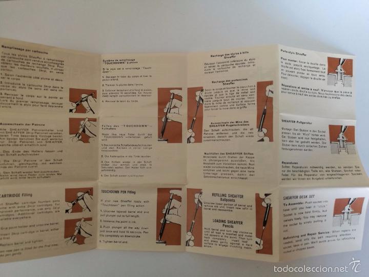 Estilográficas antiguas, bolígrafos y plumas: SHEAFFER EN ORO 12K - SET DE PLUMA BOLÍGRAFO Y MINA - CAJA ORIGINAL + INSTRUCCIONES - Foto 5 - 58360919