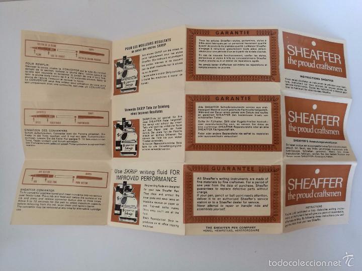 Estilográficas antiguas, bolígrafos y plumas: SHEAFFER EN ORO 12K - SET DE PLUMA BOLÍGRAFO Y MINA - CAJA ORIGINAL + INSTRUCCIONES - Foto 7 - 58360919