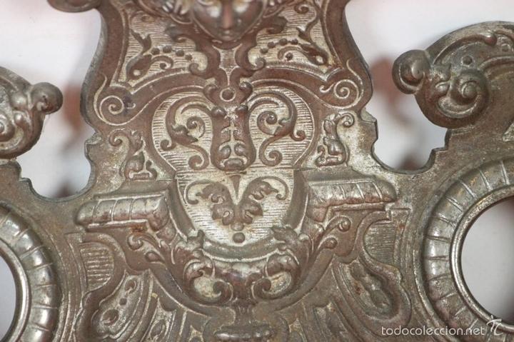 Estilográficas antiguas, bolígrafos y plumas: CONJUNTO DE ESCRIBANIA DE 3 PIEZAS EN METAL PLATEADO. SIGLO XIX. - Foto 13 - 58375689