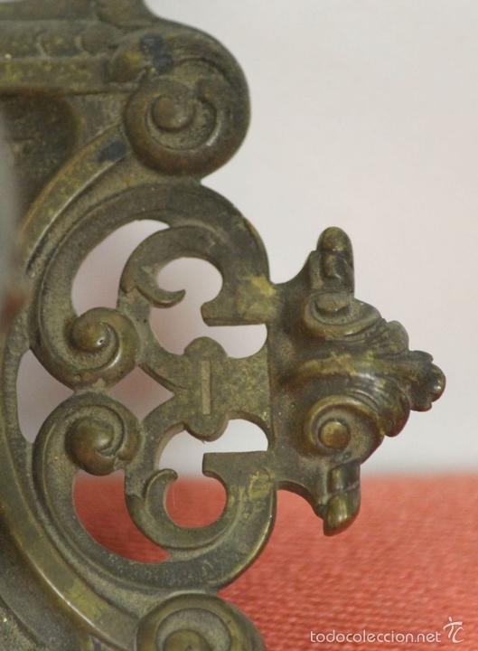 Estilográficas antiguas, bolígrafos y plumas: CONJUNTO DE ESCRIBANIA DE 3 PIEZAS EN METAL PLATEADO. SIGLO XIX. - Foto 20 - 58375689