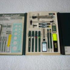 Estilográficas antiguas, bolígrafos y plumas: FABER-CASTELL. ANTIGUO JUEGO ESTUCHE TECNICO. Lote 59890439