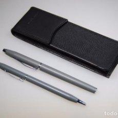 Estilográficas antiguas, bolígrafos y plumas: JUEGO DE BOLÍGRAFOS A.T CROSS. Lote 135129431