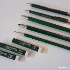 Estilográficas antiguas, bolígrafos y plumas: LOTE 5 PORTAMINAS Y 3 ESTUCHES MINAS A.W. FABER CASTELL AÑOS 60. Lote 67978937