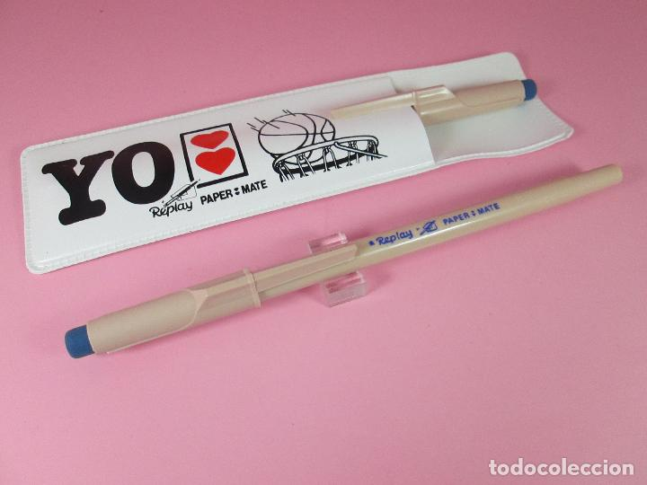 Estilográficas antiguas, bolígrafos y plumas: paper mate replay+funda-antiguo loe 2 bolígrafos-nos-funcionando-ver fotos - Foto 5 - 68737693