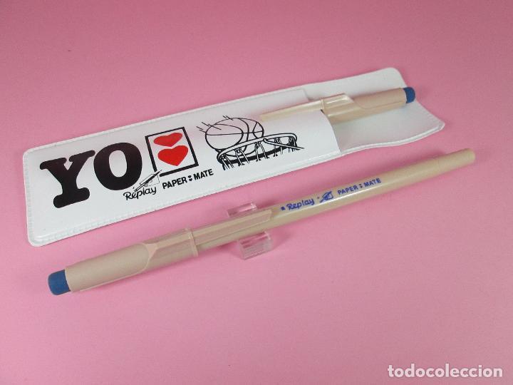 Estilográficas antiguas, bolígrafos y plumas: paper mate replay+funda-antiguo loe 2 bolígrafos-nos-funcionando-ver fotos - Foto 6 - 68737693