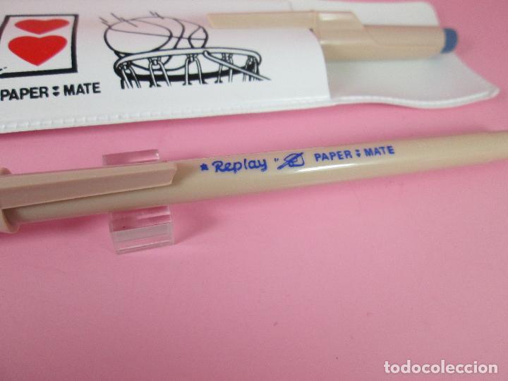 Estilográficas antiguas, bolígrafos y plumas: paper mate replay+funda-antiguo loe 2 bolígrafos-nos-funcionando-ver fotos - Foto 7 - 68737693