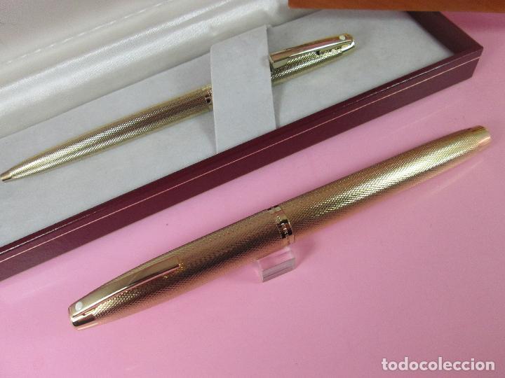 Estilográficas antiguas, bolígrafos y plumas: N1002-SHEAFFER IMPERIAL 827 BARLEYCORN-pluma+bolígrafo-ORO g.p.-CAJA-papel-perfecto-ver fotos - Foto 6 - 37142084