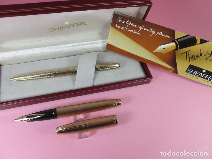 Estilográficas antiguas, bolígrafos y plumas: N1002-SHEAFFER IMPERIAL 827 BARLEYCORN-pluma+bolígrafo-ORO g.p.-CAJA-papel-perfecto-ver fotos - Foto 13 - 37142084