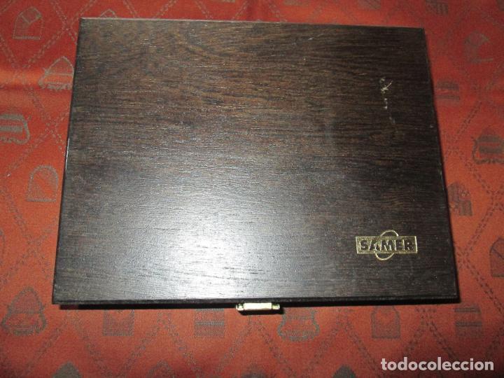 Estilográficas antiguas, bolígrafos y plumas: (7443)-juego escritorio-samer-acero inoxidable-caja madera-nos-ver fotos. - Foto 8 - 70180309