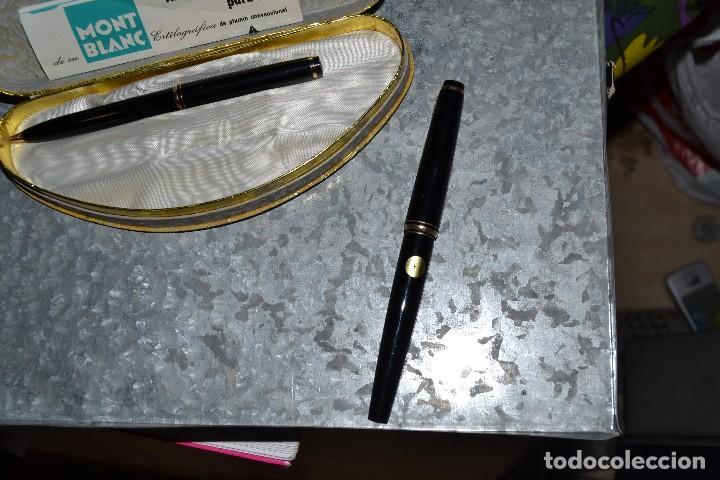 Estilográficas antiguas, bolígrafos y plumas: estuche montblanc pluma y boligrafo - Foto 4 - 72905715