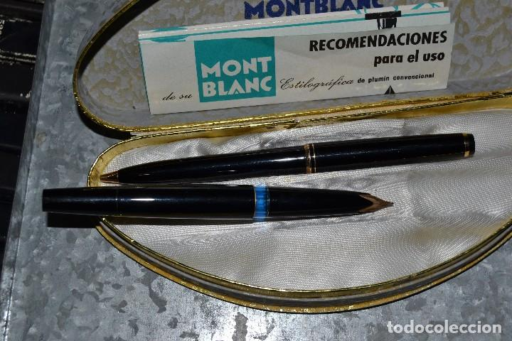 Estilográficas antiguas, bolígrafos y plumas: estuche montblanc pluma y boligrafo - Foto 5 - 72905715