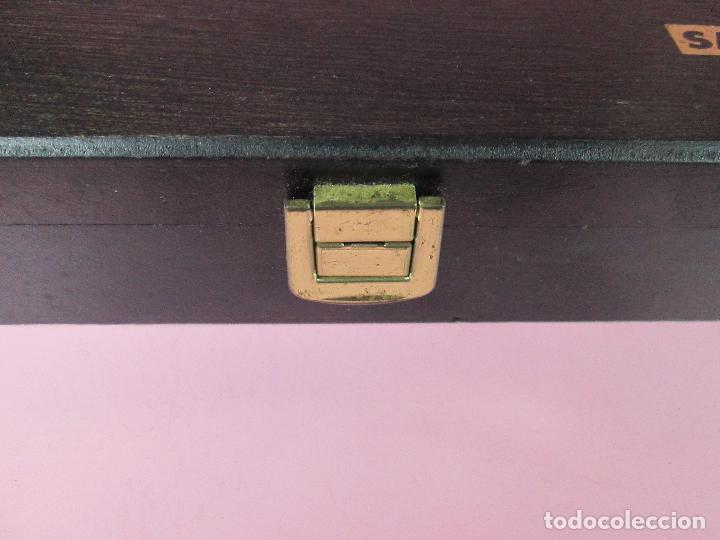 Estilográficas antiguas, bolígrafos y plumas: (7443)-juego escritorio-samer-acero inoxidable-caja madera-nos-ver fotos. - Foto 10 - 70180309