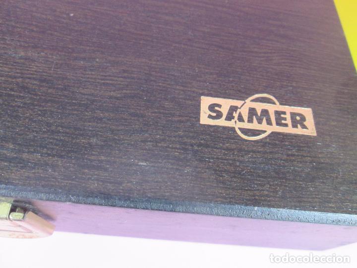 Estilográficas antiguas, bolígrafos y plumas: (7443)-juego escritorio-samer-acero inoxidable-caja madera-nos-ver fotos. - Foto 14 - 70180309