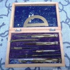Estilográficas antiguas, bolígrafos y plumas: ANTIGUA CAJA DE COMPASES. Lote 75210923