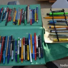 Estilográficas antiguas, bolígrafos y plumas: ESTUCHE CON 68 BOLIGRAFOS CON PUBLICIDAD .. Lote 77258325