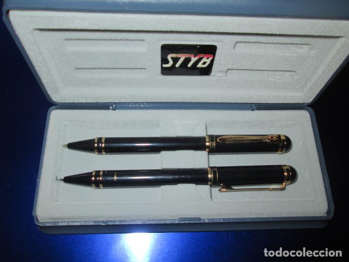 Estilográficas antiguas, bolígrafos y plumas: 7376/juego-bolígrafo+portaminas-styb-nos-caja-ver fotos. - Foto 2 - 79161561