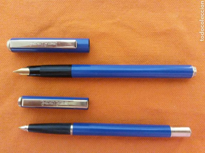 Estilográficas antiguas, bolígrafos y plumas: ANTIGUO CONJUNTO BEL BOL PLUMA ESTILOGRAFICA Y BOLIGRAFO METAL SIN USAR - Foto 3 - 79202323