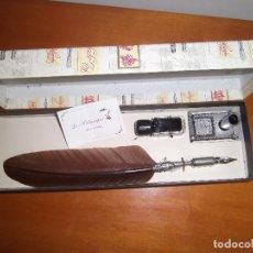 Estilográficas antiguas, bolígrafos y plumas: ESTUCHE DE PLUMA Y TINTERO LA KALIGRAFICA. Lote 86489204