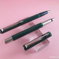 Estilográficas antiguas, bolígrafos y plumas: *(193)-JUEGO-PLUMA+BOLÍGRAFO-PARKER VECTOR-UK-VERDE+NEGRO-NOS. Lote 25829162