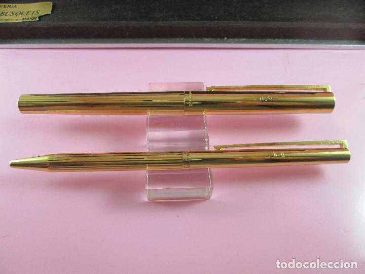 Estilográficas antiguas, bolígrafos y plumas: 4872·/juego-st.dupont-pluma+bolígrafo classique-perfecto-grabado:JC-cajas-convertidor-papel-ver fot - Foto 7 - 90240460