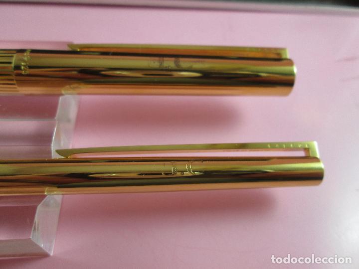 Estilográficas antiguas, bolígrafos y plumas: 4872·/juego-st.dupont-pluma+bolígrafo classique-perfecto-grabado:JC-cajas-convertidor-papel-ver fot - Foto 9 - 90240460