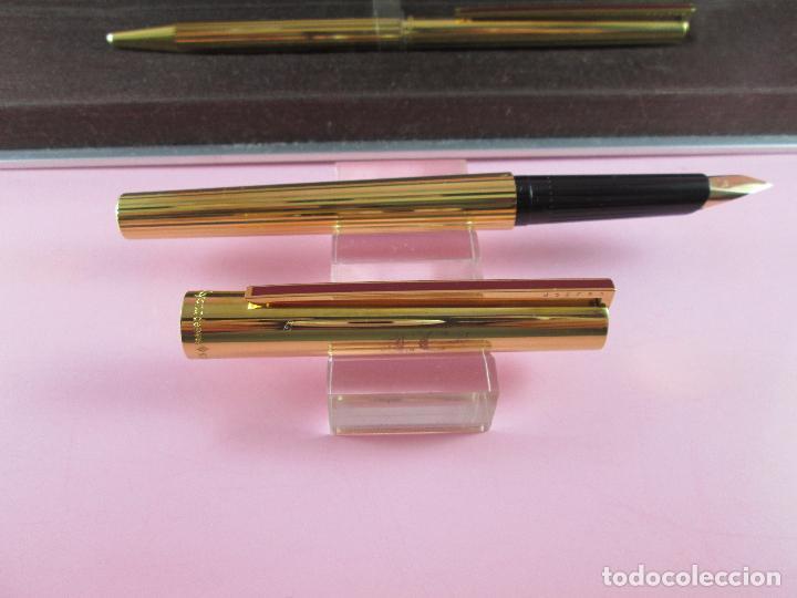 Estilográficas antiguas, bolígrafos y plumas: 4872·/juego-st.dupont-pluma+bolígrafo classique-perfecto-grabado:JC-cajas-convertidor-papel-ver fot - Foto 10 - 90240460