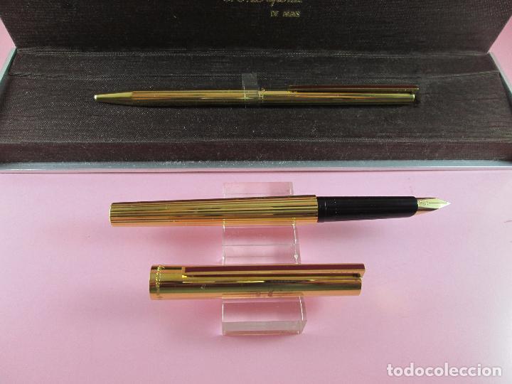 Estilográficas antiguas, bolígrafos y plumas: 4872·/juego-st.dupont-pluma+bolígrafo classique-perfecto-grabado:JC-cajas-convertidor-papel-ver fot - Foto 12 - 90240460