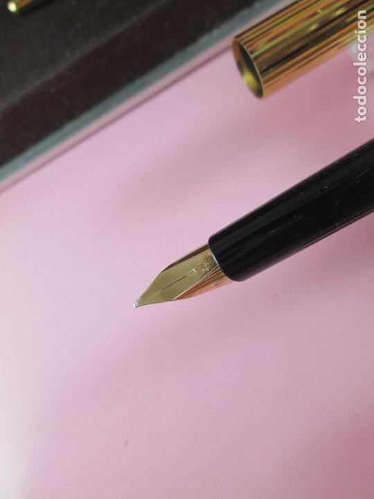 Estilográficas antiguas, bolígrafos y plumas: 4872·/juego-st.dupont-pluma+bolígrafo classique-perfecto-grabado:JC-cajas-convertidor-papel-ver fot - Foto 17 - 90240460