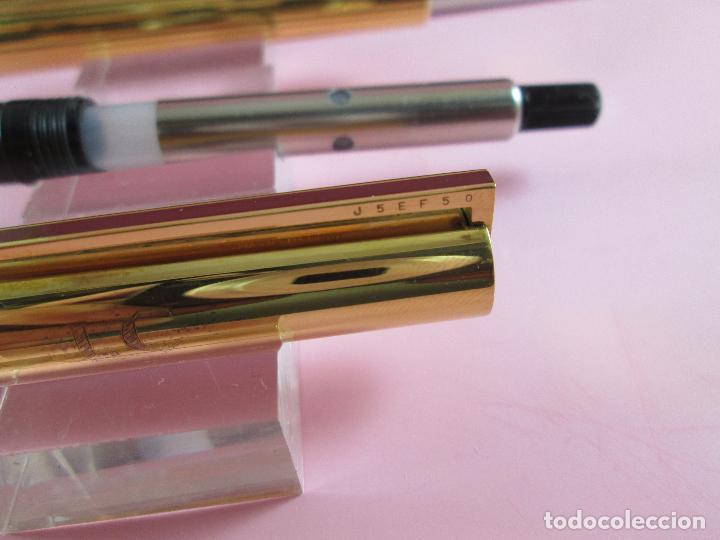 Estilográficas antiguas, bolígrafos y plumas: 4872·/juego-st.dupont-pluma+bolígrafo classique-perfecto-grabado:JC-cajas-convertidor-papel-ver fot - Foto 22 - 90240460