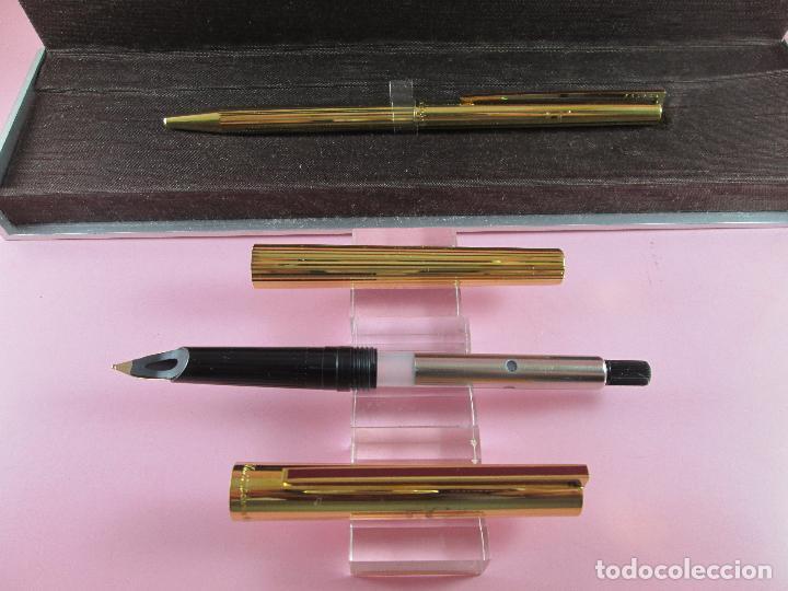 Estilográficas antiguas, bolígrafos y plumas: 4872·/juego-st.dupont-pluma+bolígrafo classique-perfecto-grabado:JC-cajas-convertidor-papel-ver fot - Foto 24 - 90240460