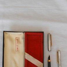 Estilográficas antiguas, bolígrafos y plumas: ESTUCHE CON PLUMA ESTILOGRAFICA Y BOLI BEL BOL. Lote 91543382