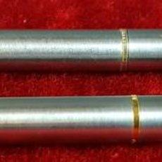 Estilográficas antiguas, bolígrafos y plumas: CONJUNTO DE BOLÍGRAFO Y PORTAMINAS. WATERMAN. FRANCE. CIRCA 1970.. Lote 92874340