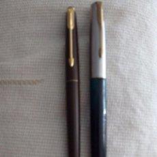 Estilográficas antiguas, bolígrafos y plumas: PLUMA ESTILOGRÁFICA PARKER Y BOLÍGRAFO PARKER FRONTIERE. Lote 94402474