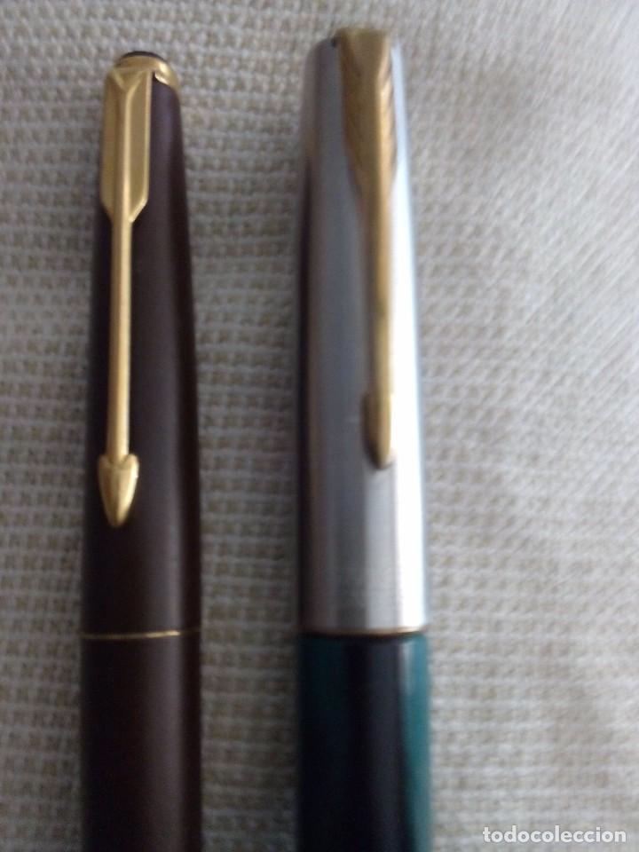 Estilográficas antiguas, bolígrafos y plumas: Pluma Estilográfica Parker y bolígrafo Parker Frontiere - Foto 2 - 94402474