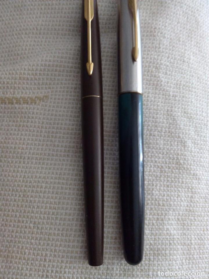 Estilográficas antiguas, bolígrafos y plumas: Pluma Estilográfica Parker y bolígrafo Parker Frontiere - Foto 7 - 94402474