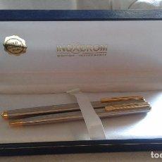 Estilográficas antiguas, bolígrafos y plumas: JUEGO DE BOLÍGRAFO Y PLUMA INOXCROM. Lote 95220979