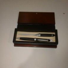 Estilográficas antiguas, bolígrafos y plumas: CONJUNTO DE BOLI Y ABRECARTAS. Lote 98852831