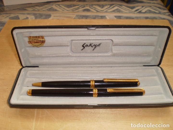 PLUMA Y BOLIGRAFO SAKYO GOLD (Plumas Estilográficas, Bolígrafos y Plumillas - Juegos y Conjuntos)
